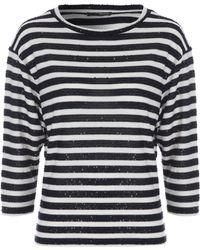 Jane Norman | Stripe Sequin Batwing Top | Lyst