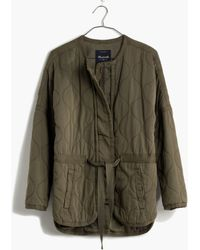 Madewell Quilted Drawstring Jacket - Lyst