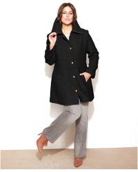 Jessica Simpson - Plus Size Braided Aline Walker Coat - Lyst