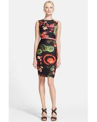 Jean Paul Gaultier Garden Print Jersey Dress - Lyst