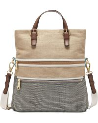 Fossil Explorer Straw Tote - Lyst