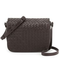 Bottega Veneta Curved Small Fullflap Crossbody Bag - Lyst