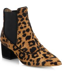 Tabitha Simmons Spotted Calf Hair & Suede Ankle Boots - Lyst