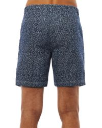 Steven Alan - Floralprint Denim Shorts - Lyst