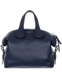 "Givenchy Blue Hammered Leather Small ""Nighingale"" Bag blue - Lyst"