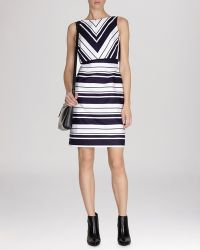 Karen Millen Dress - Woven Stripe Collection - Lyst
