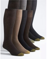 Goldtoe - 8-pack Assorted Knit Dress Socks - Lyst