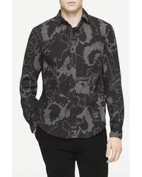 Rag & Bone | black Paneled Yokohama Shirt | Lyst
