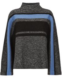 Tibi Striped Polo Neck Jumper - Lyst