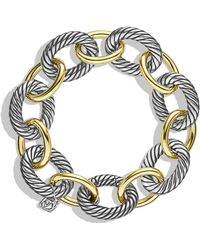 David Yurman - 'oval' Extra-large Link Bracelet With Gold - Lyst