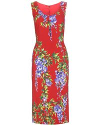 Dolce & Gabbana Crepe Dress - Lyst