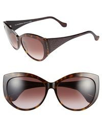 Balenciaga 58Mm Cat Eye Sunglasses - Havana/ Gradient Wine purple - Lyst