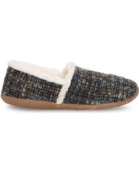 TOMS Blue Boucle Women'S Slippers - Lyst