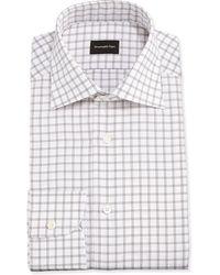Ermenegildo Zegna Big Box Check Woven Dress Shirt - Lyst