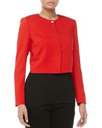 Versace Cropped Onestud Jacket Red 42 - Lyst