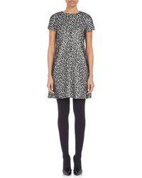 Balenciaga Cut Velvet Jacquard Dress - Lyst