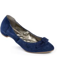 Me Too Blossom Suede Flats - Lyst