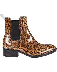 Jeffrey Campbell Stormy Rain Boot Cheetah Rubber - Lyst