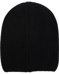 Barneys New York Black Doubleface Beanie - Lyst