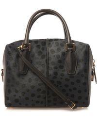 Tod's Dcube Small Leopard Calfhair Tote - Lyst