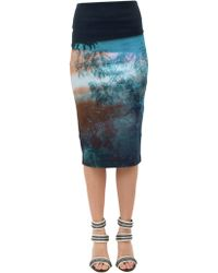McQ by Alexander McQueen Shaped-Printed-Skirt blue - Lyst