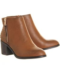Office Cooper Stud Mid Heel Boot - Lyst