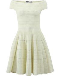 Alexander McQueen | Off-the-shoulder Knit Dress | Lyst