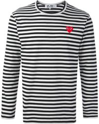 Comme Des Garçons Red Heard Detail Tshirt - Lyst
