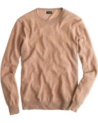 J.Crew Tall Lightweight Italian Cashmere Crewneck Sweater beige - Lyst