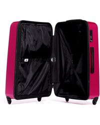 "Dot Drops - X-tra Light 29"" Suitcase - Metallic Pink - Lyst"