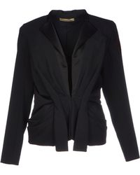 Balenciaga Satin Jacket with Tie Waist black - Lyst