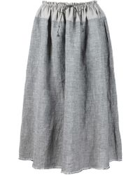 Dosa - Gray Full Cotton Skirt - Lyst