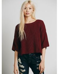 Free People Ryanne Crew Neck Pullover - Lyst