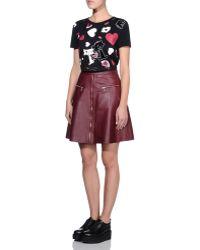 Karl Lagerfeld | Zoe A Line Biker Skirt | Lyst