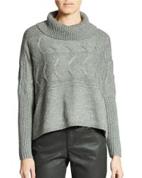 Eileen Fisher Roomy Ribbed and Cabled Sweater - Lyst