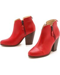 Rag & Bone Margot Boots Red - Lyst
