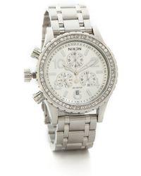 Nixon 38-20 Chrono Watch - Silver Crystal - Lyst