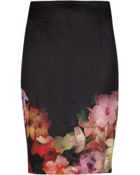 Ted Baker Cascading Floral Pencil Skirt - Lyst