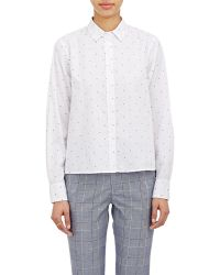 "Band of Outsiders ""Cannes Dot"" Cropped Shirt - Lyst"