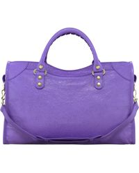 Balenciaga Giant 12 Golden City Bag Mauve - Lyst