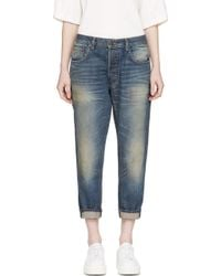 6397 Blue Faded Shorty Jeans - Lyst