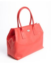 Furla Red Leather Papermoon Tote Bag - Lyst