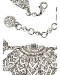 Ben-Amun - Silver Plated Swarovski Crystal Embellished Necklace - Lyst