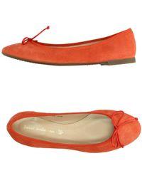 Sweet Ballerina Ballet Flats orange - Lyst