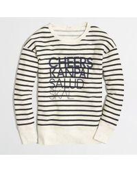 J.Crew Factory Cheers Stripe Sweatshirt - Lyst