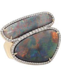 Pamela Huizenga - Australian Lightening Ridge Black Opal Ring - Lyst