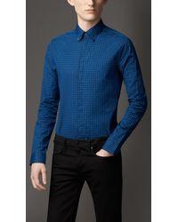 Burberry Cotton Gingham Shirt - Lyst