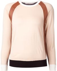 Reed Krakoff Panelled Sweater - Lyst