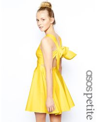 Asos Exclusive Full Skirted Skater Dress with Bow Back - Lyst