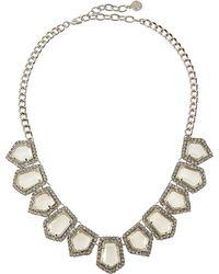 R.j. Graziano - Crystal Pentagon Bib Necklace - Lyst